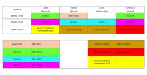 HORAIRES USNCD